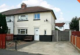 3 bed semi close to Otley centre - off street parking, back garden and conservatory.