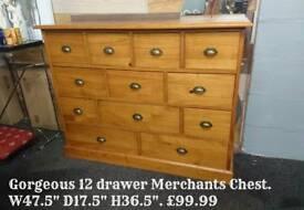 Solid pine merchant chest