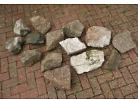 14 Decorative Garden Rocks for Rockery, Ponds / Water Features £56 For all 14 or £4.00 Each