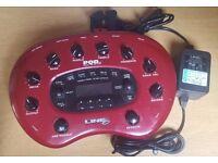 LINE 6 pod XT desktop guitar multi effects pedal + power supply + model packs