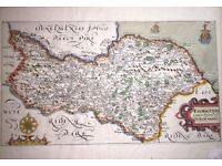Pair of original Christopher Saxton maps of East and North Riding c1606