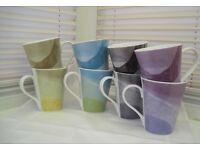 8 x Pimpernel Fine Porcelain Mugs