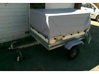 Trailer Franc 4x3 with high extension cover
