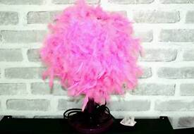 Feather pink bedside lamp