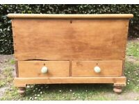 Pine waxed chest with drawers
