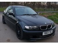 2003 Black BMW 330D M Sport Automatic Fully Loaded.