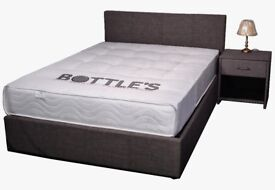 Berlin fabric Ottoman storage bed - Single