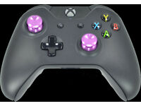 Custom Xbox One Controller with Purple Chrome Thumbsticks