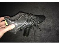 Rare Adidas football boots. Size 10 UK. Black. Good condition.