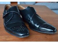 Paul Smith black patent buckle up brogues - Mens UK size 10