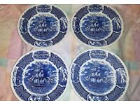 4 X DECORATIVE PLATES (Alfred Meakin. Staffordshire)