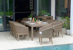 ( Scan 1074 ) Armadillo ensemble salle à manger extérieur 9 pièces