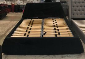 Super King Size Fabric Storage Bed