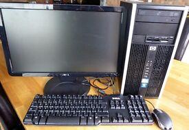 "HP Compaq 6000 Desktop PC 19"" TFT Monitor Keyboard & Mouse Win 10 Microsoft Office"