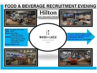 Hilton East Midlands Airport - Recruitment Evening - Thursday 30/03/2017 at 7pm- Food & Beverage