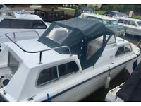 Canal Cruiser, Norman Conquest, HONDA engine, 2 cabins, 4 berth Cruiser, with Mooring fees paid