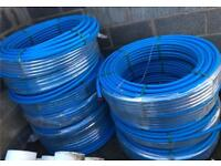 •New• Polypipe Cold Water Blue MDPE Pipe - 25mm X 100mtr