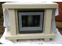 Modern Stylish Electric Fire & Surround - Cost £2000 When New.