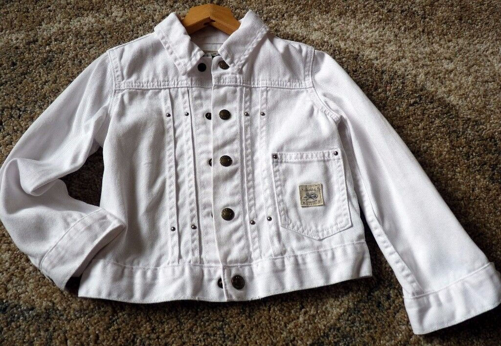 Ralph Lauren white denim jacket age 4