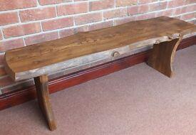 Lovely Natural Reclaimed Rare Elm Wood Bench