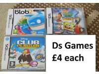 Nintendo ds games £4 each no offers from a smoke and pet free home collection from didcot