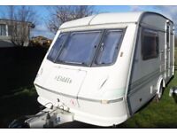 1995 LIGHT-WEGHT ELDDIS WHIRLWIND XL 2 BERTH,ONLY 770 KGS.WITH PORCH AWNING,CLEAN & DRY CONDITION.