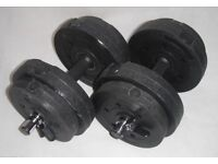 Dumbells Concrete and Plastic weights 15KG Speed Fit Lock