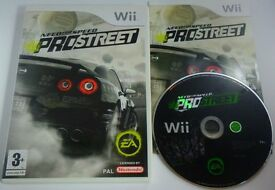 Nintendo wii need for speed prostreet car racing game, boxed complete with manual