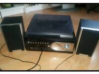 Record Player with CD, cassette and radio