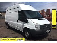 SALE SALE!! Ford Transit 2.2 125BHP High Roof, One Owner From New, FSH, 1YR MOT, 79K Miles,Six Speed