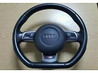 AUDI S3 A3 RS3 FLAT BOTTOM STEERING WHEEL PADDLE SHIFT S LINE