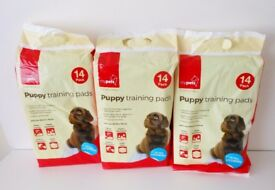 3 Packs of PUPPY TRAINING PADS (14 in each pack)