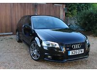 Audi A3 1.4 TFSI S Line Sportback 5dr Immaculate Condition, Pearlescent Paint, Black Edition Alloys