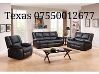 BRAND NEW LEATHER RECLINER SOFAS *~*~*FREE DELIVERY*~*~* Monaco Black
