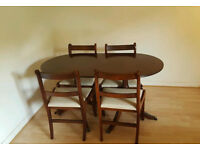 GOOD QUALITY DINING TABLE AND CHAIRS