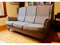 Grey 3-seater Wing-back Sofa