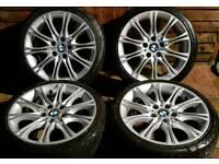 "BMW 3 Series Mpsort MV2 18"" alloy wheels - 5 x 120 - staggered - E46 - GENUINE - £220"