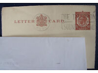 Vintage King George V 1½ d (three half pence) letter card. Sent from Canterbury, Kent.
