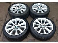 BMW E92 COUPE ALLOYS WITH TYRES 255 / 40 / 17