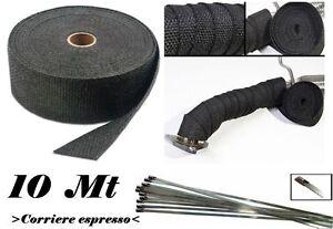 10-mt-benda-termica-Fiber-Glass-collettori-auto-moto-Universal-Black