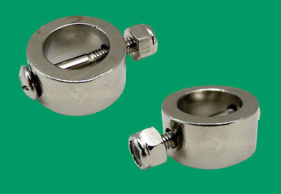 Set of 2 Metal Goalie Stop Ring with Screw/Nut - Stop Ring for Foosball Tables