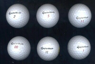 LOT OF 100 TAYLOR MADE WHITE GOLF BALLS,  GRADE AAAA, WITH SOME