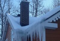 Roof snow and ice removal