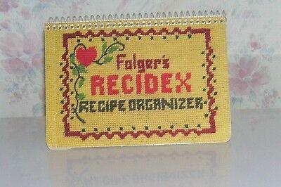 Folgers Coffee Recidex Recipe Stand-up Blank Organizer Spindex Corp Vtg 1977