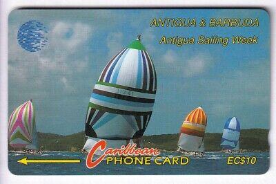 Amerique telecarte / phonecard .. ile antigua 10$ gpt 13cat bateau boat voilier