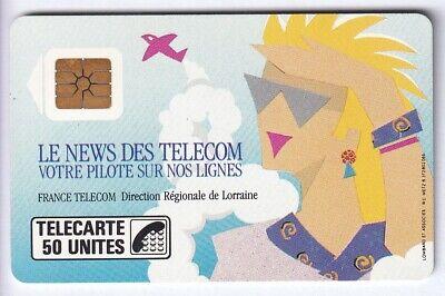 FRANCE TELECARTE / PHONECARD .. 50U F80 SO2 NEWS LORRAINE PE.2237 UT/TBE C.70€