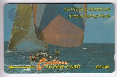 Amerique  telecarte / phonecard .. ile antiga 40$ gpt 7cat bateau boat voilier