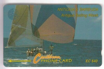 Amerique  telecarte / phonecard .. ile antigua 40$ gpt 7cat bateau boat voilier