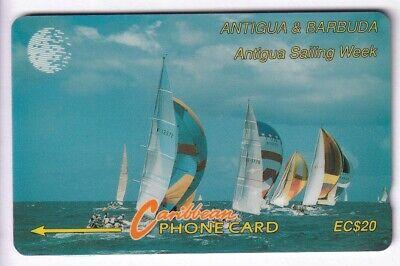 Amerique telecarte / phonecard .. ile antigua 20$ gpt 11cat bateau boat voilier