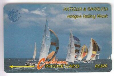 Amerique  telecarte / phonecard .. ile antigua 20$ gpt 13cat bateau boat voilier